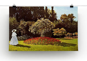 Woman in the garden by Monet Canvas Print & Poster - Canvas Art Rocks - 2
