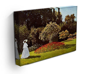Woman in the garden by Monet Canvas Print & Poster - Canvas Art Rocks - 3