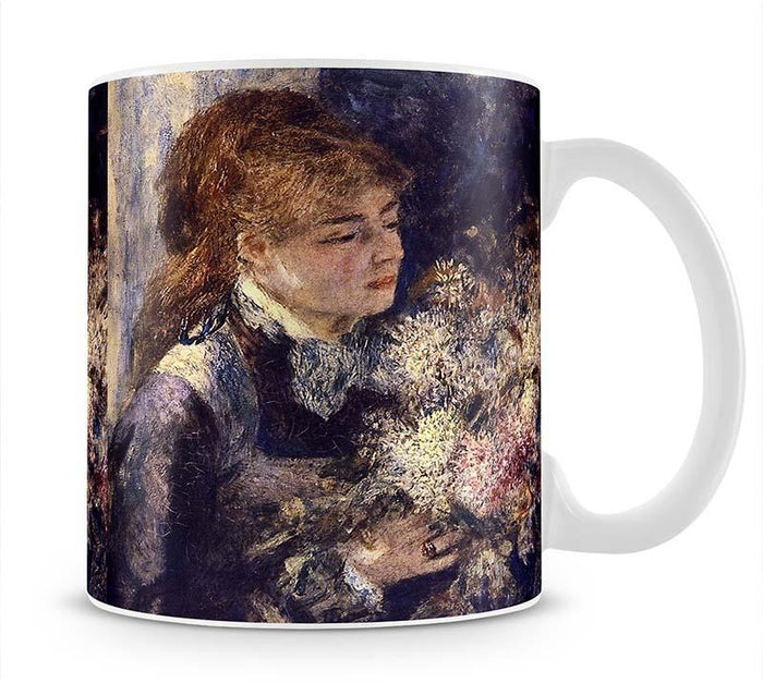 Woman with Lilacs by Renoir Mug