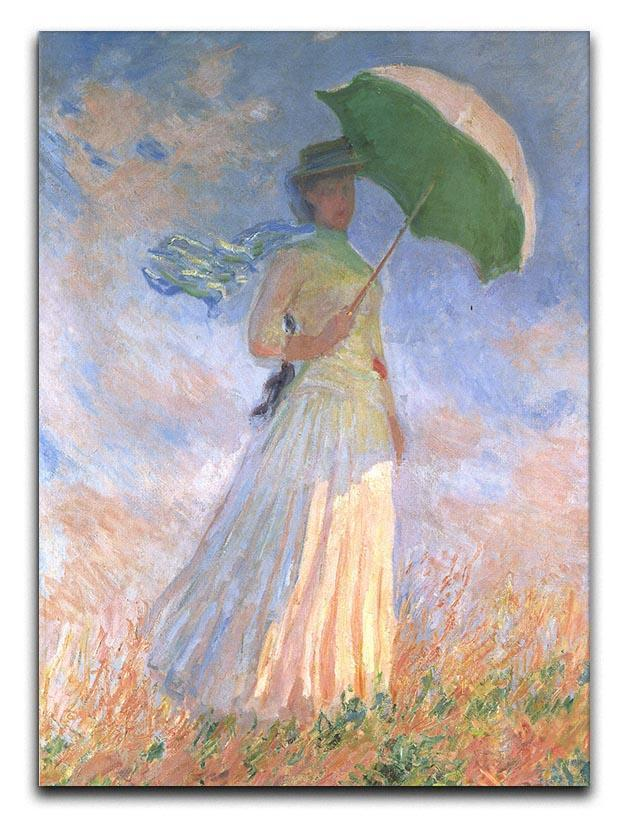 Woman with Parasol 2 by Monet Canvas Print or Poster