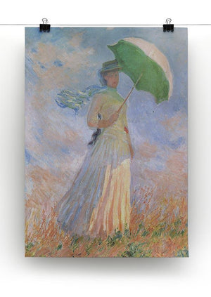 Woman with Parasol 2 by Monet Canvas Print & Poster - Canvas Art Rocks - 2