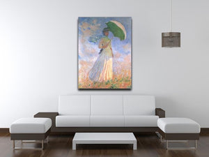 Woman with Parasol 2 by Monet Canvas Print & Poster - Canvas Art Rocks - 4