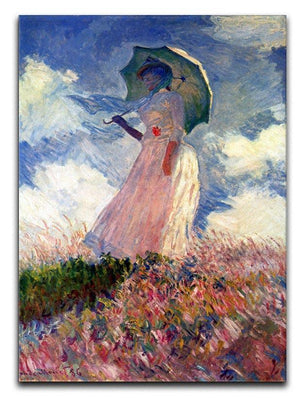 Woman with Parasol study by Monet Canvas Print & Poster  - Canvas Art Rocks - 1
