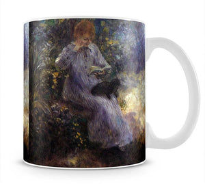 Woman with a black dog by Renoir Mug - Canvas Art Rocks - 1
