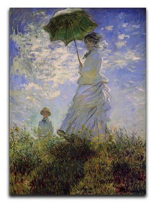 Woman with a parasol by Monet Canvas Print & Poster  - Canvas Art Rocks - 1