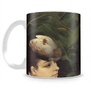 Woman with gull feathe Detail by Renoir Mug - Canvas Art Rocks - 2