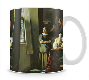 Woman with messenger by Vermeer Mug - Canvas Art Rocks - 1