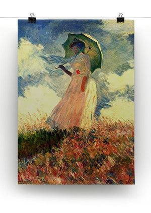 Woman with sunshade by Monet Canvas Print & Poster - Canvas Art Rocks - 2