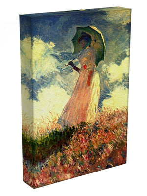 Woman with sunshade by Monet Canvas Print & Poster - Canvas Art Rocks - 3
