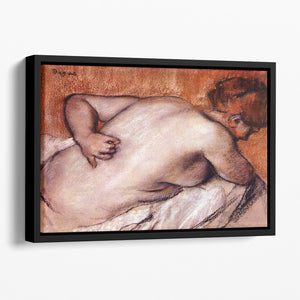 Womans back by Degas Floating Framed Canvas