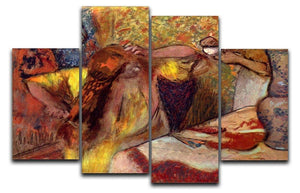 Women at the toilet 1 by Degas 4 Split Panel Canvas - Canvas Art Rocks - 1