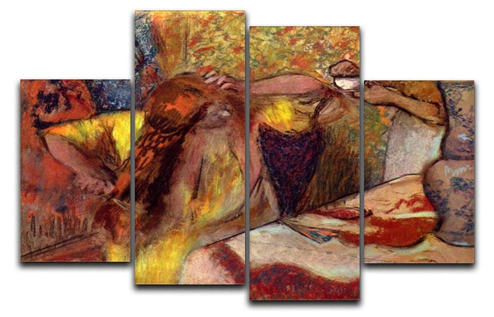 Women at the toilet 1 by Degas 4 Split Panel Canvas