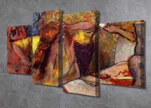 Women at the toilet 1 by Degas 4 Split Panel Canvas - Canvas Art Rocks - 2