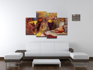 Women at the toilet 1 by Degas 4 Split Panel Canvas - Canvas Art Rocks - 3