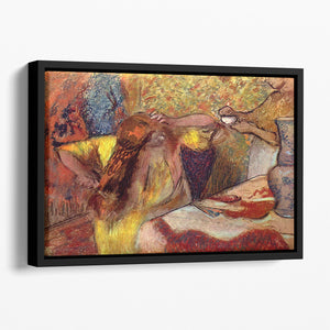 Women at the toilet 1 by Degas Floating Framed Canvas
