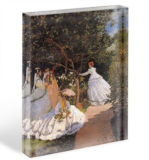 Women in the Garden by Monet Acrylic Block - Canvas Art Rocks - 1