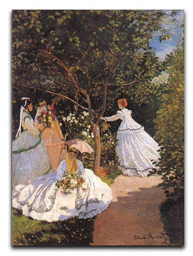 Women in the Garden by Monet Canvas Print or Poster