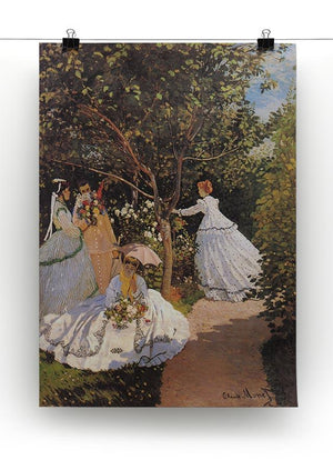 Women in the Garden by Monet Canvas Print & Poster - Canvas Art Rocks - 2