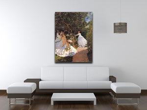 Women in the Garden by Monet Canvas Print & Poster - Canvas Art Rocks - 4