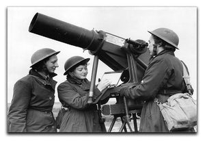Women soldiers take aim WW2 Canvas Print or Poster  - Canvas Art Rocks - 1