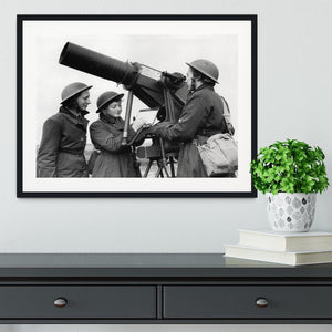 Women soldiers take aim WW2 Framed Print - Canvas Art Rocks - 1