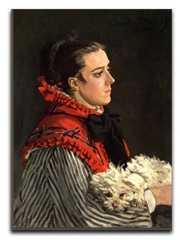 Women with Dog by Monet Canvas Print & Poster  - Canvas Art Rocks - 1