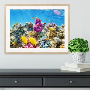 Wonderful and beautiful underwater Framed Print - Canvas Art Rocks - 3