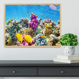 Wonderful and beautiful underwater Framed Print - Canvas Art Rocks - 4