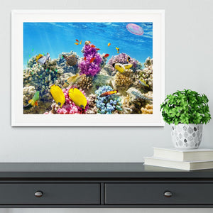 Wonderful and beautiful underwater Framed Print - Canvas Art Rocks - 5