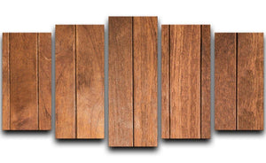 Wood arraged vertical pattern 5 Split Panel Canvas - Canvas Art Rocks - 1