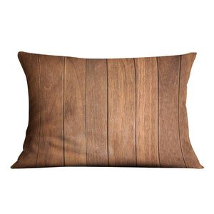Wood arraged vertical pattern Cushion - Canvas Art Rocks - 4