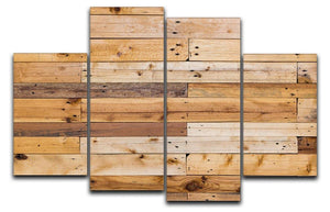Wood texture 4 Split Panel Canvas - Canvas Art Rocks - 1