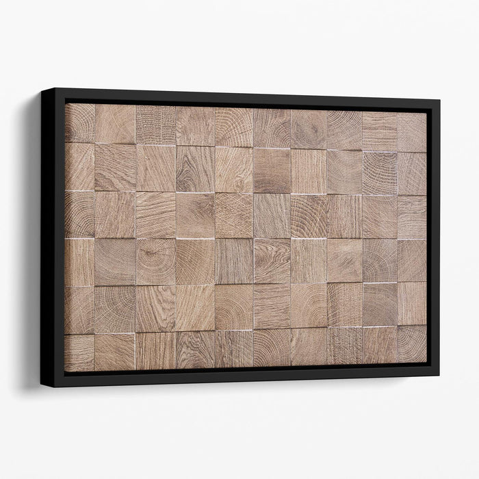 Wooden background with embossed detail Floating Framed Canvas