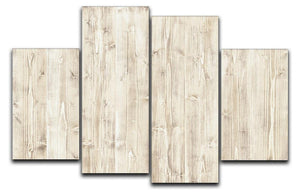 Wooden texture light wood 4 Split Panel Canvas - Canvas Art Rocks - 1