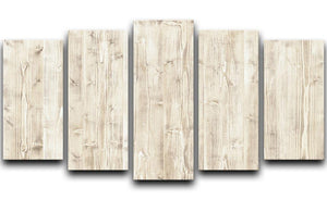 Wooden texture light wood 5 Split Panel Canvas - Canvas Art Rocks - 1