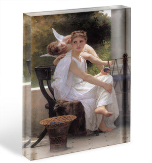 Work Interrupted By Bouguereau Acrylic Block - Canvas Art Rocks - 1