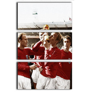 World Cup 1966 3 Split Panel Canvas Print - Canvas Art Rocks - 1