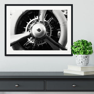 World War II Combat Airplane Closeup Framed Print - Canvas Art Rocks - 1
