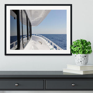 Yacht elements The deck Framed Print - Canvas Art Rocks - 1
