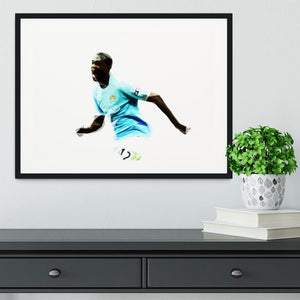 Yaya Toure Framed Print - Canvas Art Rocks - 1
