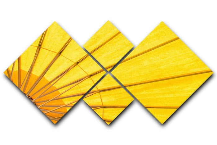 Yellow umbrella background 4 Square Multi Panel Canvas
