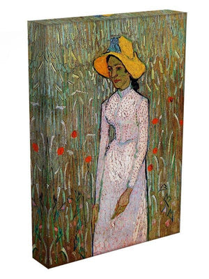 Young Girl Standing Against a Background of Wheat by Van Gogh Canvas Print & Poster - Canvas Art Rocks - 3