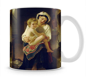 Young Mother Gazing At Her Child By Bouguereau Mug - Canvas Art Rocks - 1