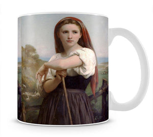 Young Shepherdess By Bouguereau Mug - Canvas Art Rocks - 1