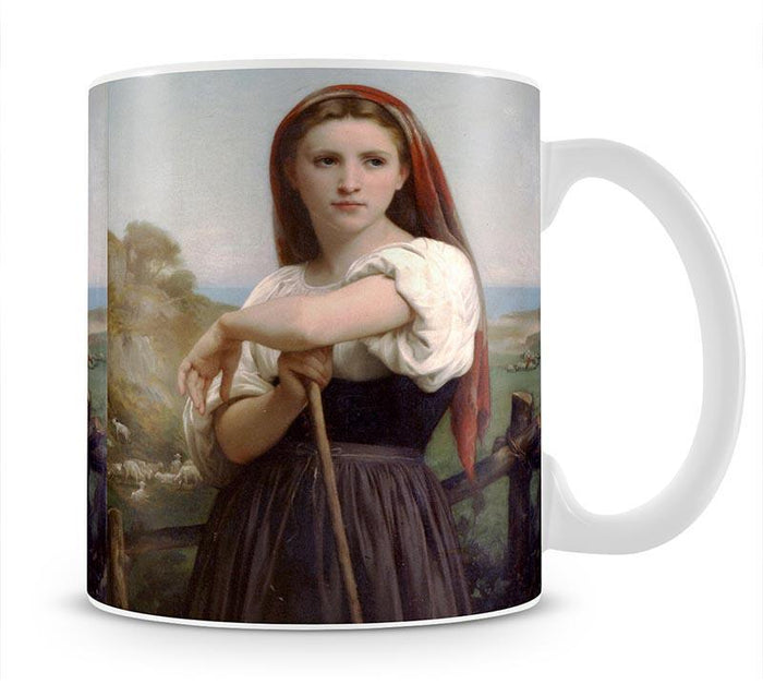 Young Shepherdess By Bouguereau Mug