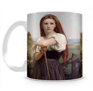 Young Shepherdess By Bouguereau Mug - Canvas Art Rocks - 2