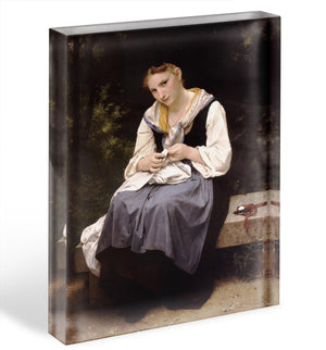 Young Worker By Bouguereau Acrylic Block - Canvas Art Rocks - 1