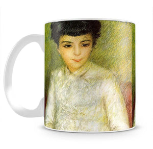 Young girl with brown hair by Renoir Mug - Canvas Art Rocks - 2