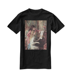 Young girls at the piano 2 by Renoir T-Shirt - Canvas Art Rocks - 1