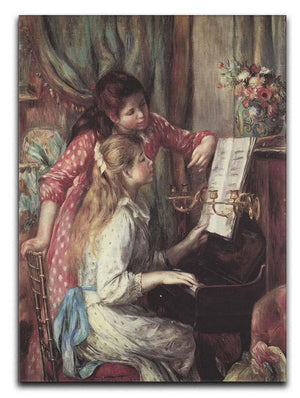 Young girls at the piano 2 by Renoir Canvas Print or Poster  - Canvas Art Rocks - 1